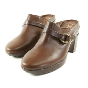 Cole Haan Leather High Heel Clogs Mules Shoes